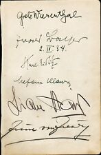 Ballet - GRETE WIESENTHAL Autograph + Five More - ca.1934