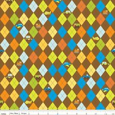 On the Go Brown Argyle by Bo Bunny for Riley Blake, 1/2 yard 100% cotton fabric