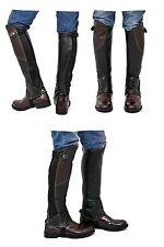 Riders Trend 2-tone Leather Gaiter (Pair) Black/Brown - Large