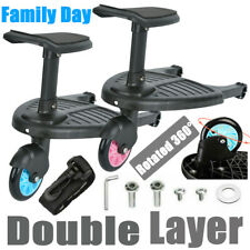 Universal Buggy Stroller Step Board Connector Stand Toddler Kids Child Pushchair