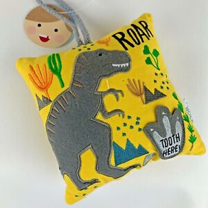 Floss & Rock Tooth Fairy Pillow - Dinosaur New with Tags