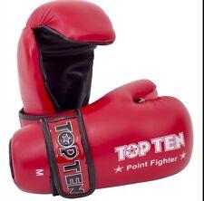 Top Ten Point Fighter Gloves Sparring Taekwondo Kickboxing Size Med
