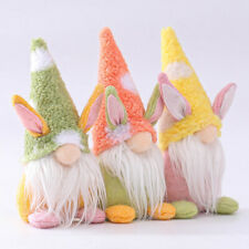 Easter Bunny Gnome Rabbit Nordic Decor Tomte Plush Toy Doll Ornament Kids Gift💕