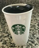 Starbucks Ceramic Travel Tumbler Coffee Mug With SPLASHGUARD Lid 10Fl. Oz.