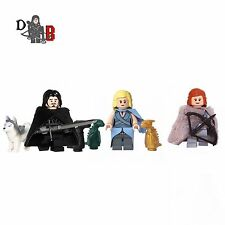 Custom Game of Thrones Minifigures 3 pack - Jon Snow, Daenerys & Ygritte