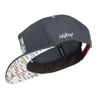Nebelkind Snapback Cap grau mit original Berliner Netzplan / U-Bahn Netz edel on