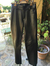 Gucci Women's Black Lambskin Leather Pants Size 38