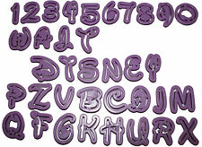 Alphabet Buchstaben Disney Ausstechform mit ZAHLEN Fondant 36 Tlg Ausstecher
