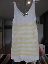 Cotton On Womens Knit Singlet Top Yellow & White - Size S, Great Condition!!