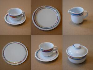 Arzberg 8700 Daily Rainbow - Kuchenteller Kaffeetasse Speiseteller Suppenteller