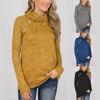 Women Long Sleeve Sweatshirt Sweater Casual Pullover Jumper Tops Blouse T-Shirt