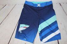 Cat & Jack Boys Swim Trunks Royal Blue with Sharks Size Xl 16 Husky