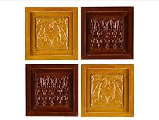 """Lifetime 12"""" Metal Wall Plaques Decoration -Set of 4(Burgundy & Gold) NEW IN BOX"""