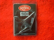 """FREE SHIP'N "" Kyser ""Quick Change"" BLACK--CHROME 6 STRING ACOUSTIC GUITAR CAPO"