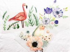 DIY Iron on Flower,Bird & Flamingo Spring Vinyl Transfers
