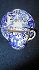 "Royal Crown Derby ""Blue Mikado"" (1) tea cup/saucer"