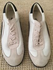 GEOX Cream Beige Lace Up  Flat Leather Shoes/Trainer Pumps - Size 39