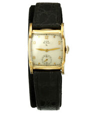ELGIN DRESS WATCH CA1950S | 17 JEWEL MANUAL WIND, YELLOW GOLD FILLED SQUARE CASE