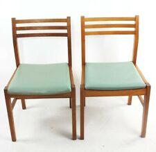 Pair of Retro Danish Style Teak Dining Chairs [5826]