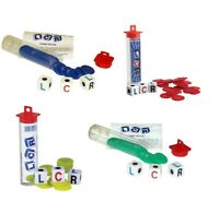 LCR Dice Game Left Center Right LRC RLC CLR Chips Dice Instructions Case Family