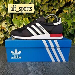 ❤ BNWB & Genuine adidas originals ® USA 84 Trainers  Black White Red UK Size 11