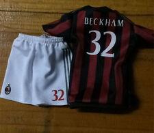 KODOXO 1/6 AC Milan7# Beckham JERSEY KIT (t shirt+pants+socks) action figure toy
