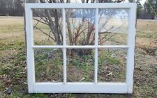 Architectural Salvage ~ 6 PANE 34x27 ANTIQUE WINDOW FRAME SASH, WAVY GLASS