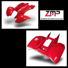 NEW HONDA TRX 400EX 05 - 07 FIGHTING RED PLASTIC FRONT AND REAR FENDER SET