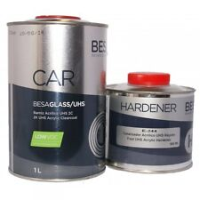 Vernis peinture bi-couche UHS 1L + durcisseur rapide 0.5L carrosserie auto Besa