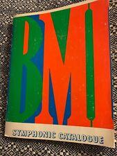 orig. catalog BMI Symphonic Music  RECORDS Catalogue  1971