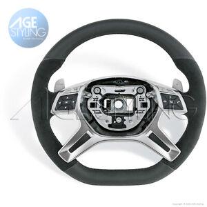 Mercedes-Benz GL63 AMG ML63 ML350 ML550 G63 ALCANTARA FLAT BOTTOM Steering Wheel