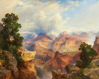 Grand Canyon Thomas Moran Fine Art Print on Canvas Repro Giclee Home Decor Small