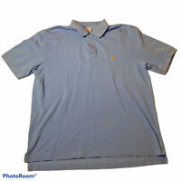 Brooks Brothers 346 Baby Blue Polo Shirt Men's L Short Sleeve Casual 100% Cotton