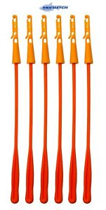 MDI Match Orange Fishing Elastic Winder Bung with Extractor Pack of 6 (10-15mm)