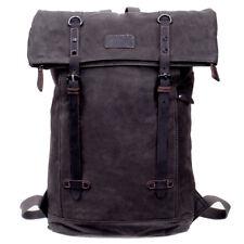 Troop Waxed Canvas Laptop Rucksack Brown TRP0425:  Bag Backpack