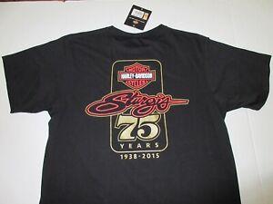 Harley Davidson Sturgis 75th Anniversary T-Shirt Size Medium **NEW**