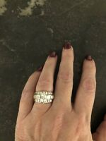14k white gold Marquise diamond wedding ring