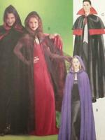 McCalls Sewing Pattern 4139 Mens Misses Teens Lined/Unlined Cape Size S-XL UC