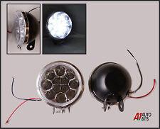 DRL 9 cm UNIVERSALI AUTO Furgone Bus Anteriore 12 Luci LED 12v Spot Nebbia Lampade alogene