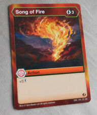 BAKUGAN Battle Brawlers Battle Planet SONG OF FIRE ACTION Card 109_CO_BB