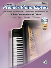 """ALFRED'S PREMIER PIANO COURSE EXPRESS"""" MUSIC BOOK 3/CD-BRAND NEW ON SALE-METHOD!"""