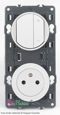 Variateur écovariateur 150W+prise affleur. blanc Céliane 67083+68031+67131+80252
