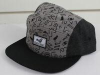 Neff Girls Youth Junior Major Adjustable Strap Flat Brim Hat Gray New