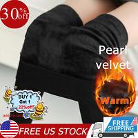 Women Fleece Leggings Slim Winter Warm Velvet Sweat Pants Lined Thermal Thick US