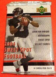 2004 UD Sweet Spot FB HOBBY Pack(Ben Roethlisberger Eli Manning Rivers RC AUTO)?