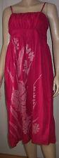 HUNZA Cerise Stitched Flower Strappy Tie Belt Cotton Summer Dress Size S