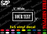 YOUR TEXT Vinyl Decal Sticker Window 3x5 Bumper CUSTOM Personalized Name Decor