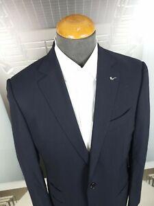 Ermenegildo Zegna Su Misura Luxury Suit Dark Blue Mila Fit Size EU 48R Jacket