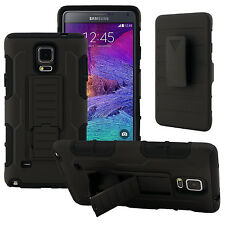 Armor Hybrid Defender Dual Layer Impact Kickstand Belt Hard Shell Case For Phone