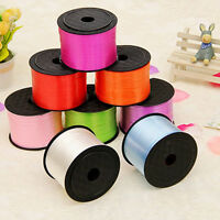 100Yards/Roll 5mm SINGLE FACE SATIN Ribbon Bright Color Wedding Decoration Gift
